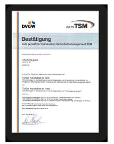 Das TSM-Zertifikat für Gas und Wasser