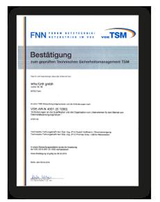Das TSM Zertifikat der infra