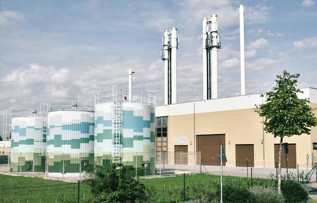 Ein Heizkraftwerk der infra